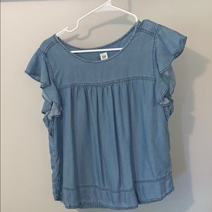 Gap jean blouse shirt